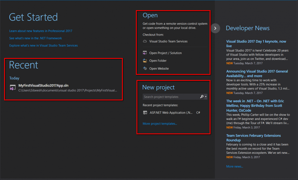 Recent_menu_and_open_menu_in_Visual_Studio_2017