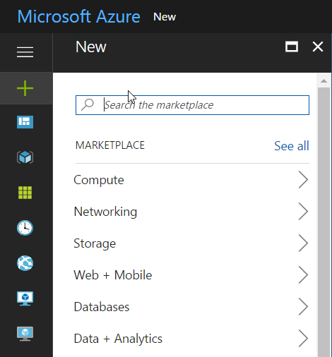 Azure Create New Resource