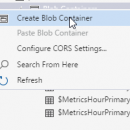 Creating a BLOB Container