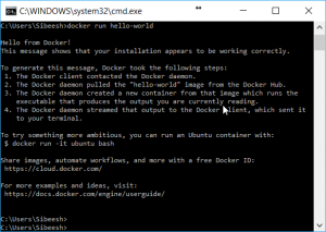 Docker Check From Command Window