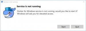 Docker Service Is Not Runnig Window