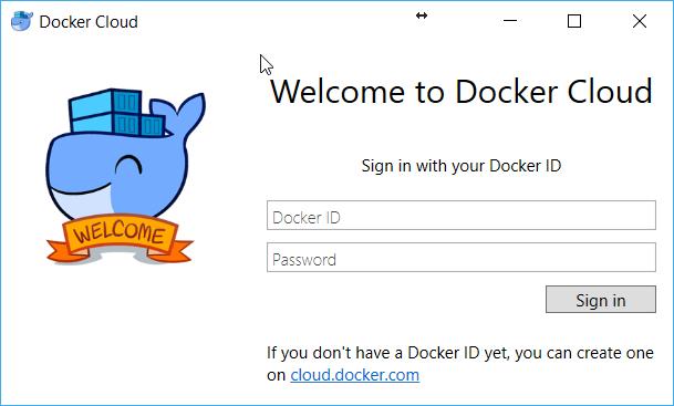 Docker SignIn page
