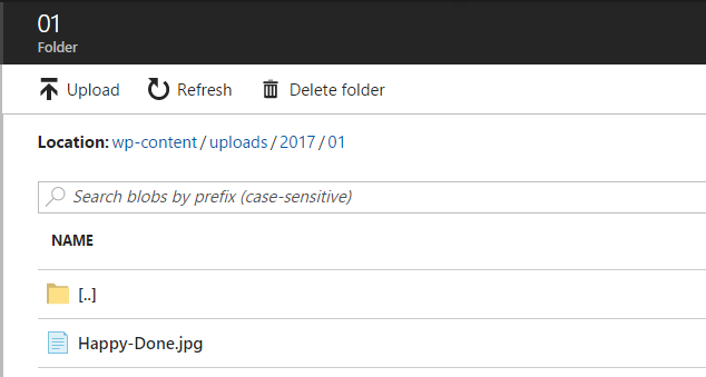 Hierarchy Folder Structure in Azure Storage Container