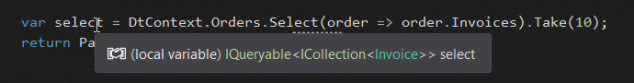 LINQ Basic to Advanced Select Tooltip