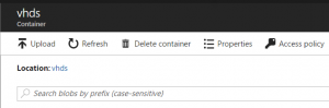 No option to upload a container inside a container