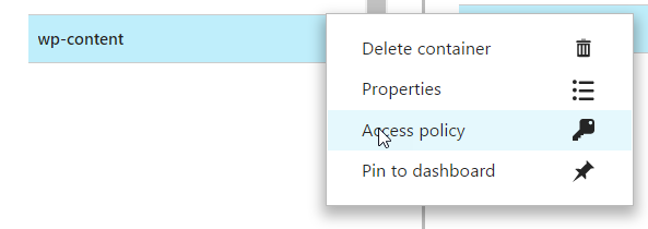 Option to see Azure Container Policy