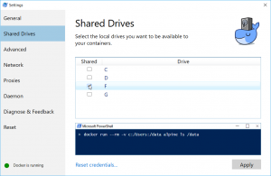 Shared Drive in Docker