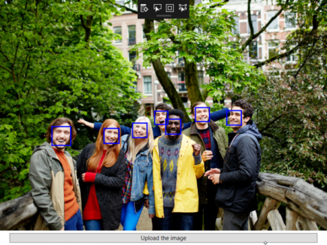 Azure Face Recognition API Output