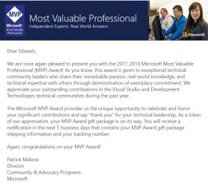 Microsoft MVP 2017