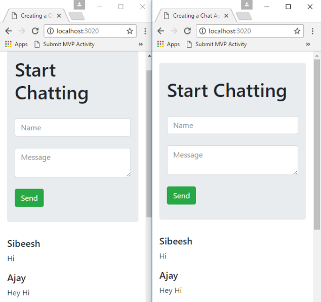 Creating a Chat Application in Node JS with Express, MongoDB